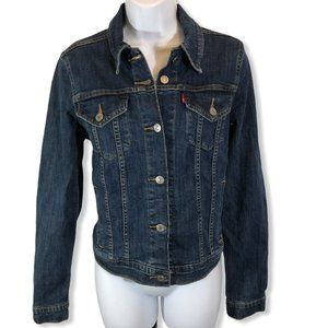 LEVIS CLASSIC DENIM JEAN JACKET DARK BLUE Large